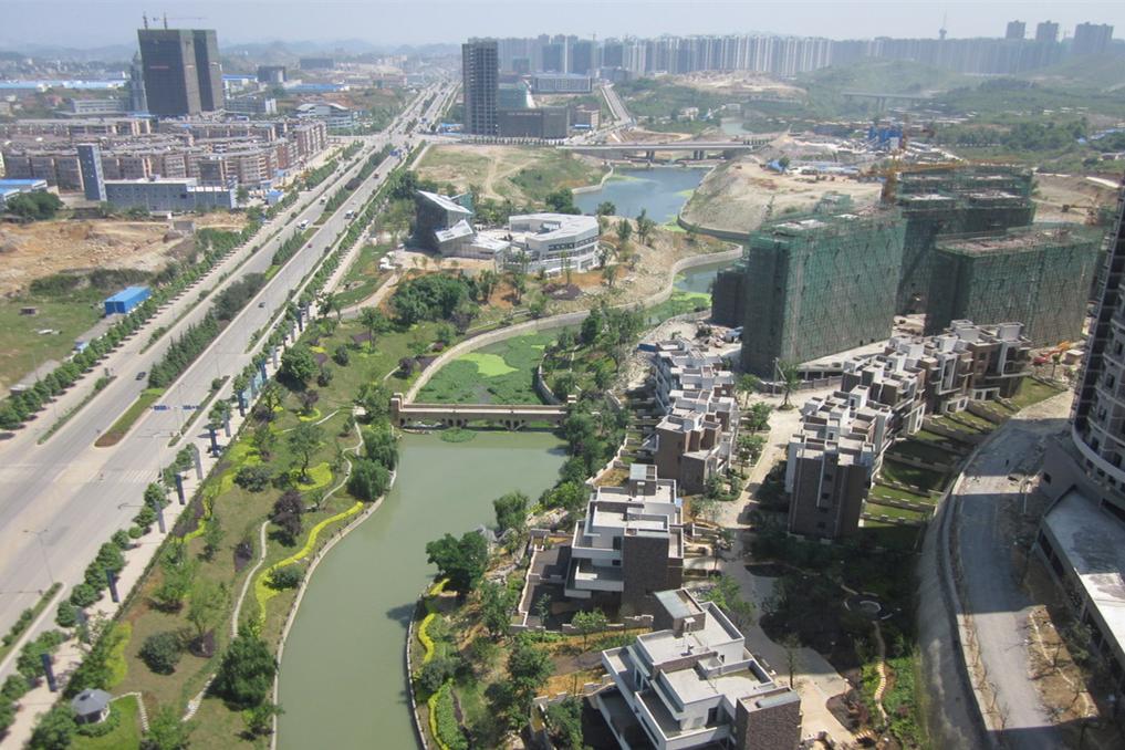 此次远大生态风景项目地位处金阳门户位置,是离贵阳老城区最近的项目